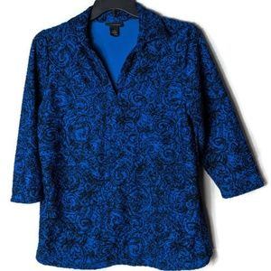 Lane Bryant Crinkle Collard Blouse